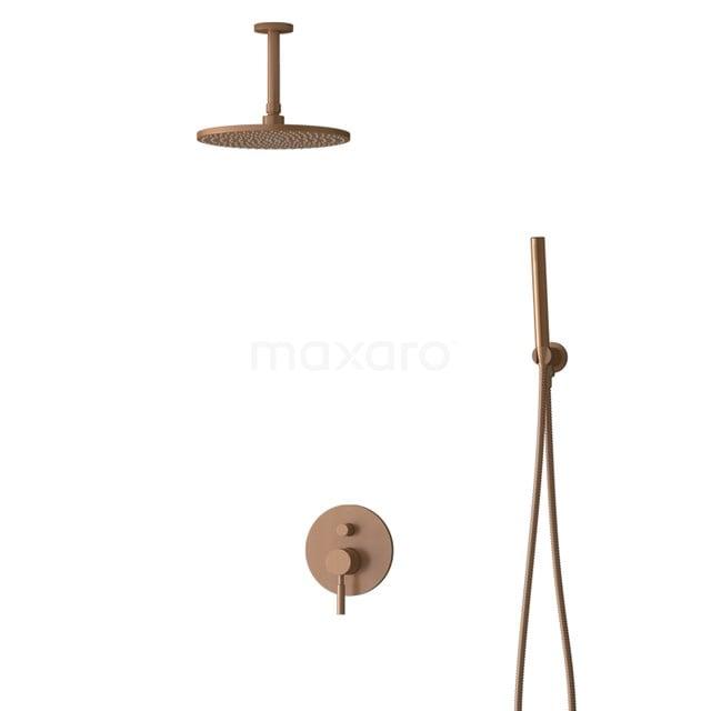 Inbouw Regendoucheset Radius Copper, Eéngreeps Mengkraan, 25cm Hoofddouche, Koper BIK55-00051