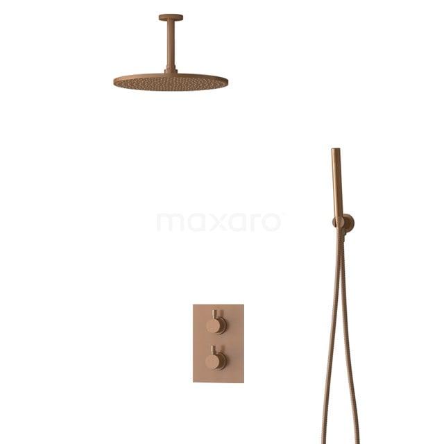 Inbouw Regendoucheset Radius Copper, Thermostaatkraan, 30cm Hoofddouche, Koper BIK55-00053