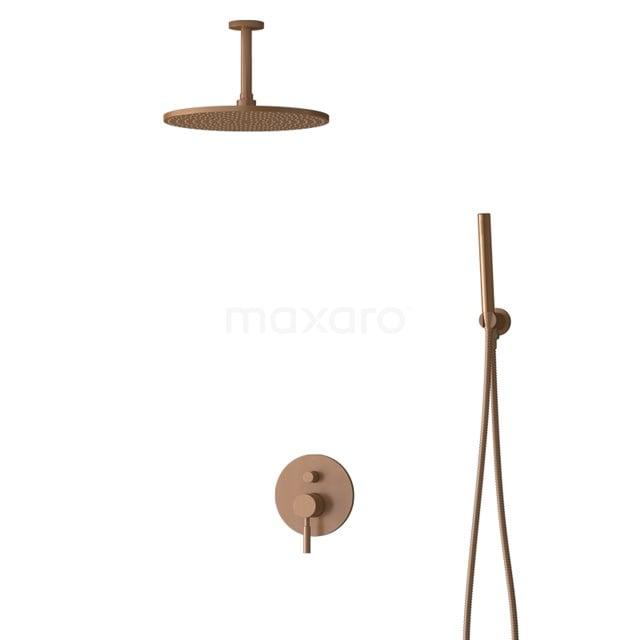 Inbouw Regendoucheset Radius Copper, Eéngreeps Mengkraan, 30cm Hoofddouche, Koper BIK55-00054