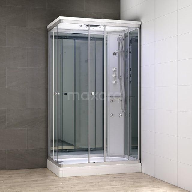 Complete Douchecabine 120x80cm Spiegelglas Modera Watermassage LED Verlichting AK1208-422102