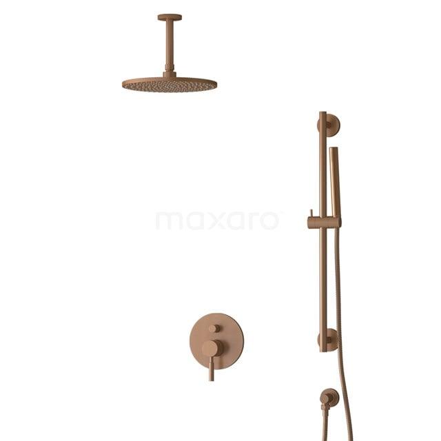Inbouw Regendoucheset Radius Copper, Eéngreeps Mengkraan, 25cm Hoofddouche, Koper BIK55-00069