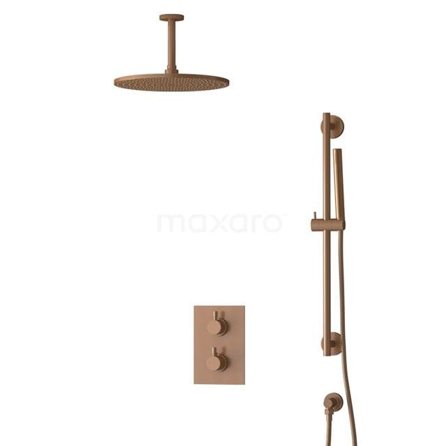 Inbouw Regendoucheset Radius Copper, Thermostaatkraan, 30cm Hoofddouche, Koper BIK55-00071
