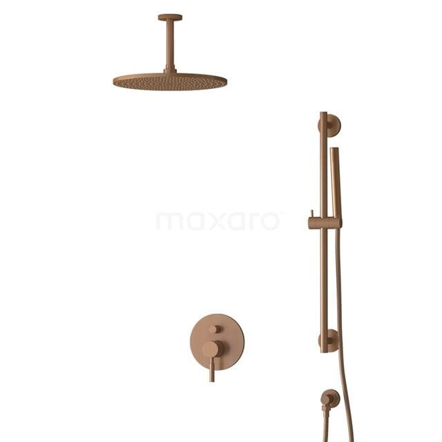 Inbouw Regendoucheset Radius Copper, Eéngreeps Mengkraan, 30cm Hoofddouche, Koper BIK55-00072