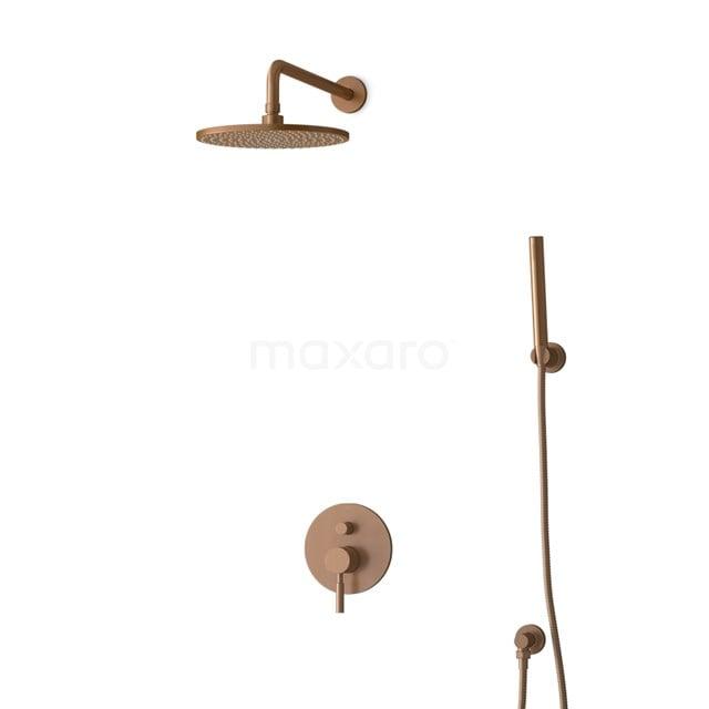 Inbouw Regendoucheset Radius Copper, Eéngreeps Mengkraan, 25cm Hoofddouche, Koper BIK55-00078