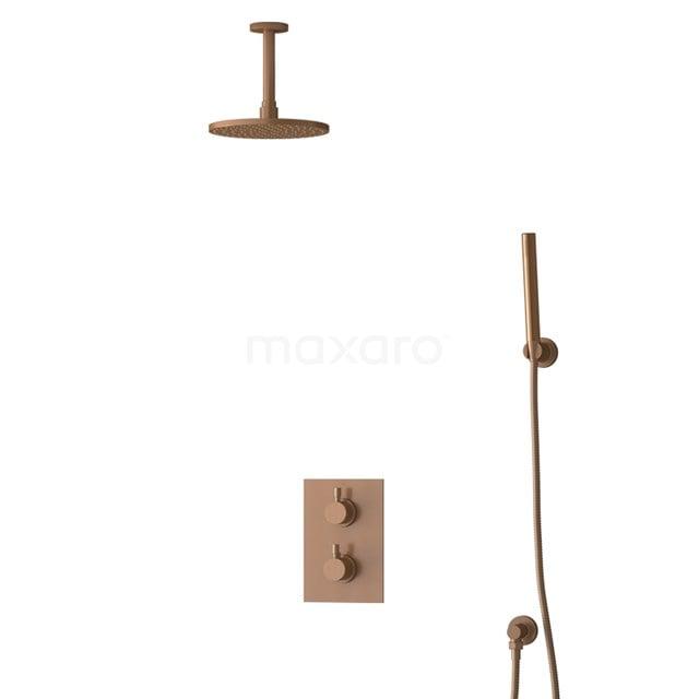 Inbouw Regendoucheset Radius Copper, Thermostaatkraan, 20cm Hoofddouche, Koper BIK55-00083