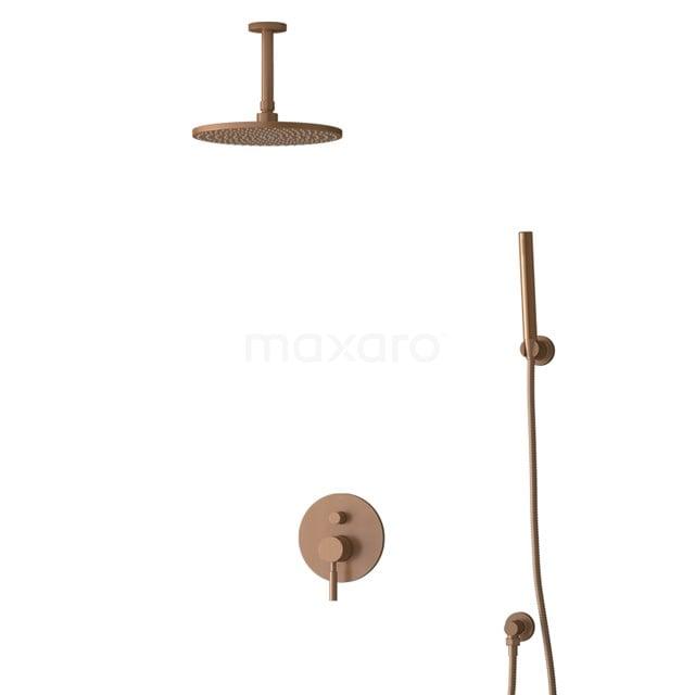 Inbouw Regendoucheset Radius Copper, Eéngreeps Mengkraan, 25cm Hoofddouche, Koper BIK55-00087