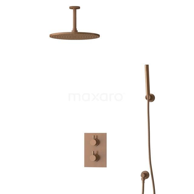Inbouw Regendoucheset Radius Copper, Thermostaatkraan, 30cm Hoofddouche, Koper BIK55-00089