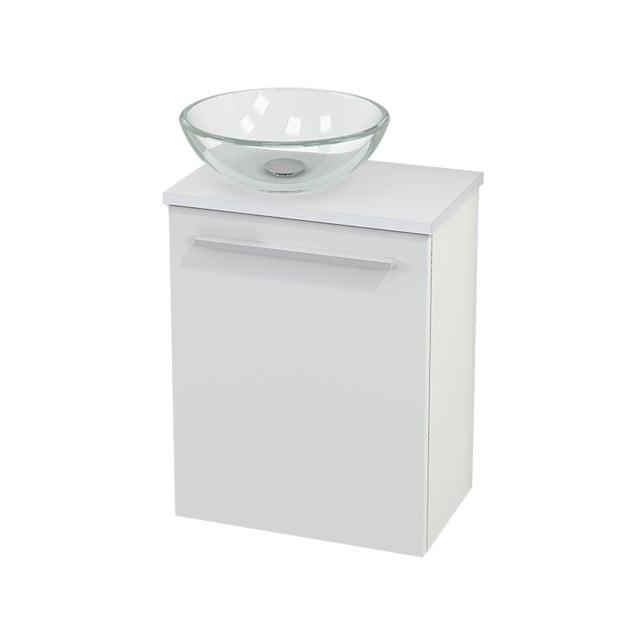 Toiletmeubel met Waskom Glas Modulo+ Pico Hoogglans Wit 41cm BMC000001