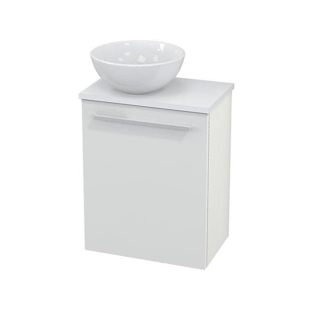 Toiletmeubel met Waskom Keramiek Modulo+ Pico Hoogglans Wit 41cm BMC000003
