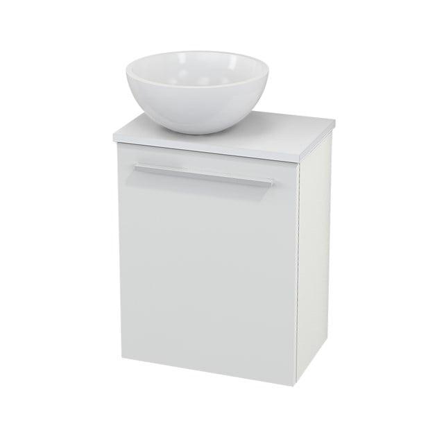 Toiletmeubel met Waskom Mineraalmarmer Glanzend Modulo+ Pico Hoogglans Wit 41cm BMC000004