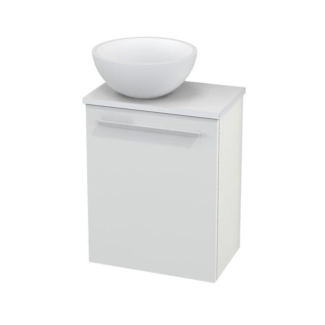 Toiletmeubel met Waskom Solid Surface Mat Modulo+ Pico Hoogglans Wit 41cm BMC000005
