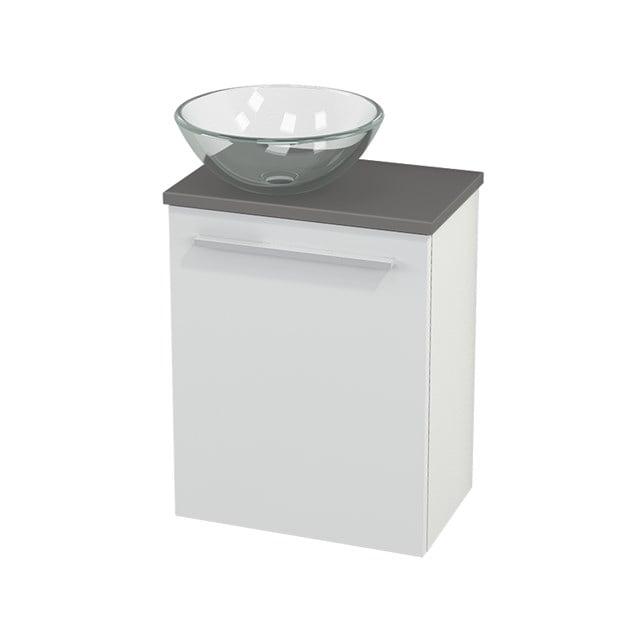 Toiletmeubel met Waskom Glas Modulo+ Pico Hoogglans Wit 41cm BMC000008
