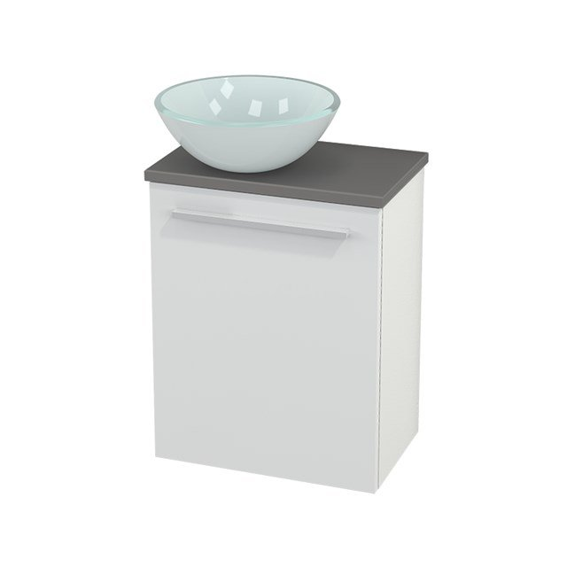 Toiletmeubel met Waskom Glas Modulo+ Pico Hoogglans Wit 41cm BMC000009