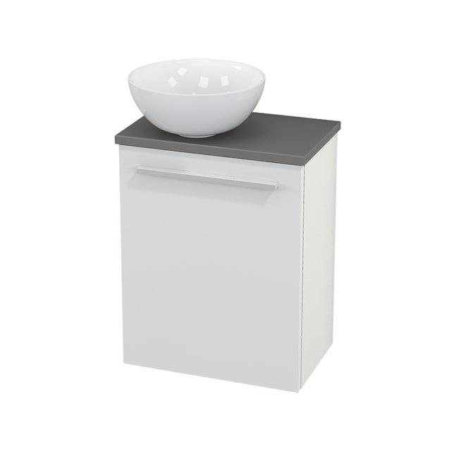 Toiletmeubel met Waskom Keramiek Modulo+ Pico Hoogglans Wit 41cm BMC000010