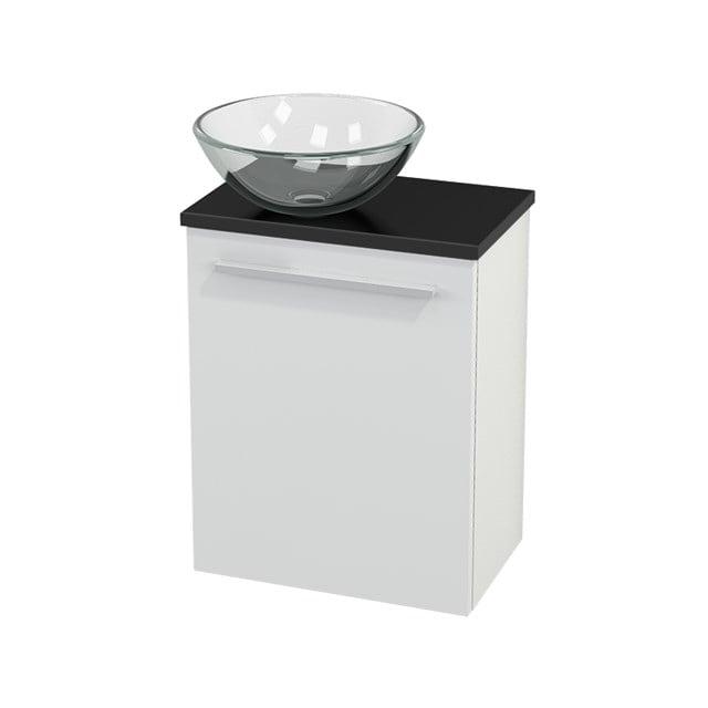 Toiletmeubel met Waskom Glas Modulo+ Pico Hoogglans Wit 41cm BMC000015