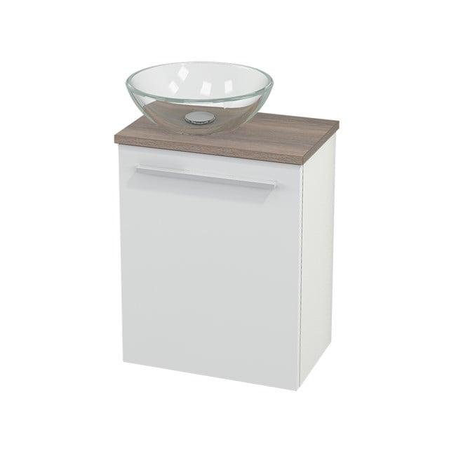 Toiletmeubel met Waskom Glas Modulo+ Pico Hoogglans Wit 41cm BMC000022