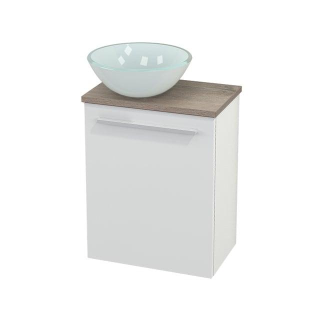 Toiletmeubel met Waskom Glas Modulo+ Pico Hoogglans Wit 41cm BMC000023