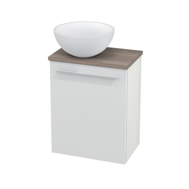 Toiletmeubel met Waskom Solid Surface Mat Modulo+ Pico Hoogglans Wit 41cm BMC000026