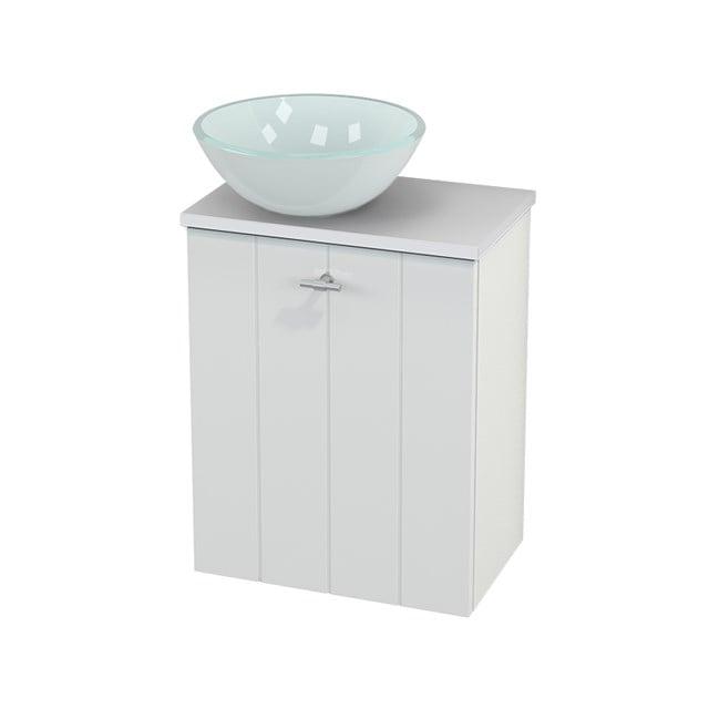 Toiletmeubel met Waskom Glas Modulo+ Pico Hoogglans Wit 41cm BMC000030