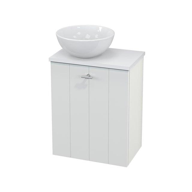 Toiletmeubel met Waskom Keramiek Modulo+ Pico Hoogglans Wit 41cm BMC000031