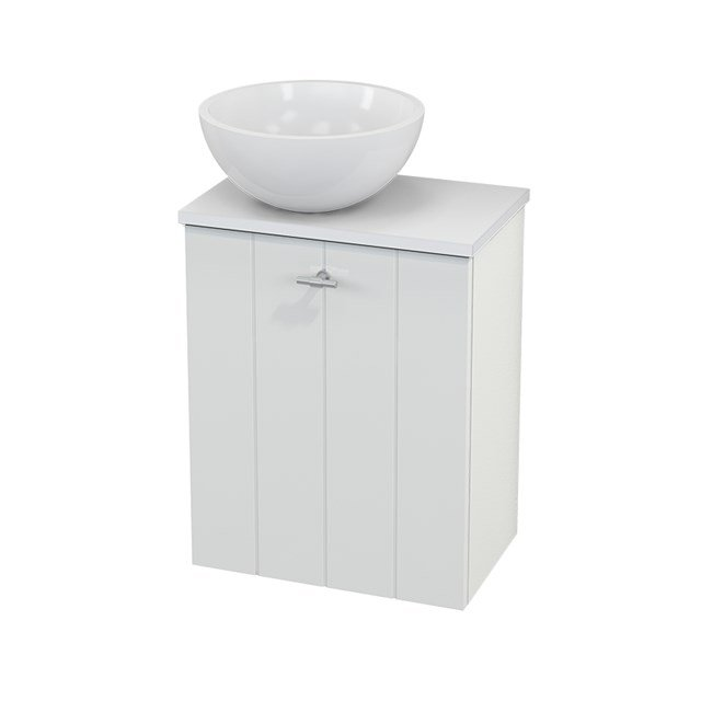 Toiletmeubel met Waskom Mineraalmarmer Glanzend Modulo+ Pico Hoogglans Wit 41cm BMC000032