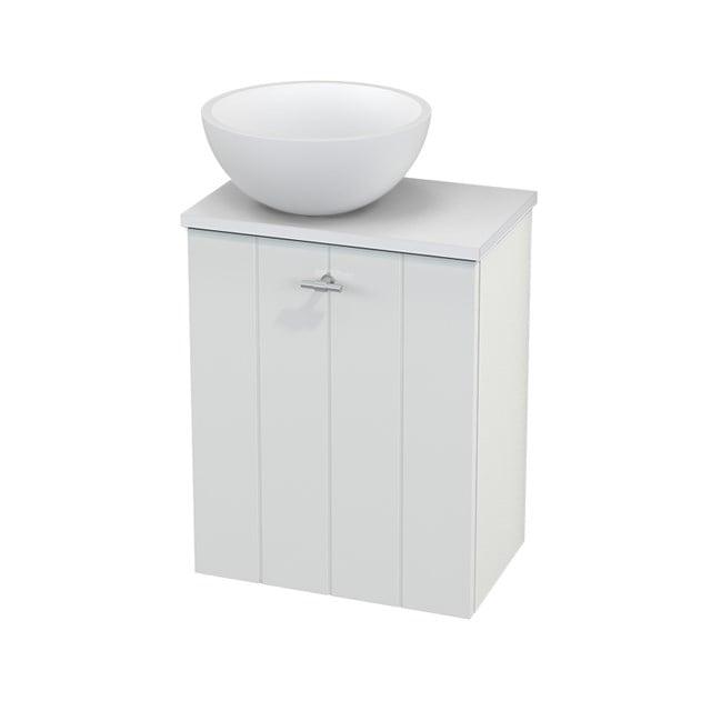Toiletmeubel met Waskom Solid Surface Mat Modulo+ Pico Hoogglans Wit 41cm BMC000033