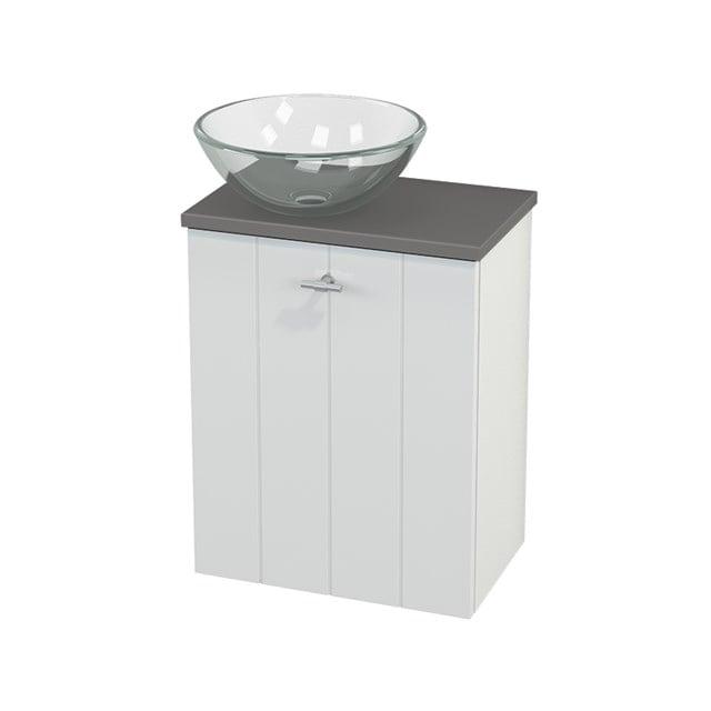 Toiletmeubel met Waskom Glas Modulo+ Pico Hoogglans Wit 41cm BMC000036