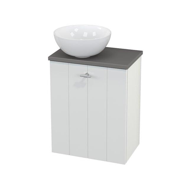 Toiletmeubel met Waskom Keramiek Modulo+ Pico Hoogglans Wit 41cm BMC000038