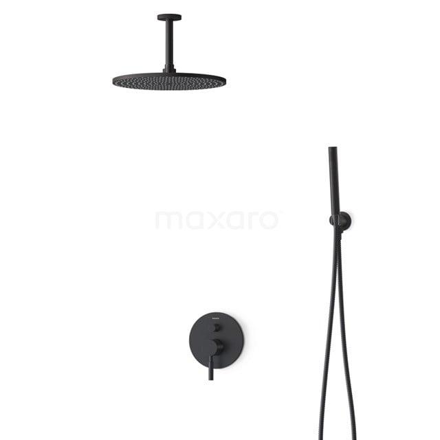Inbouw Regendoucheset Radius Black, Eéngreeps Mengkraan, 30cm Hoofddouche, Zwart BIZ55-00132