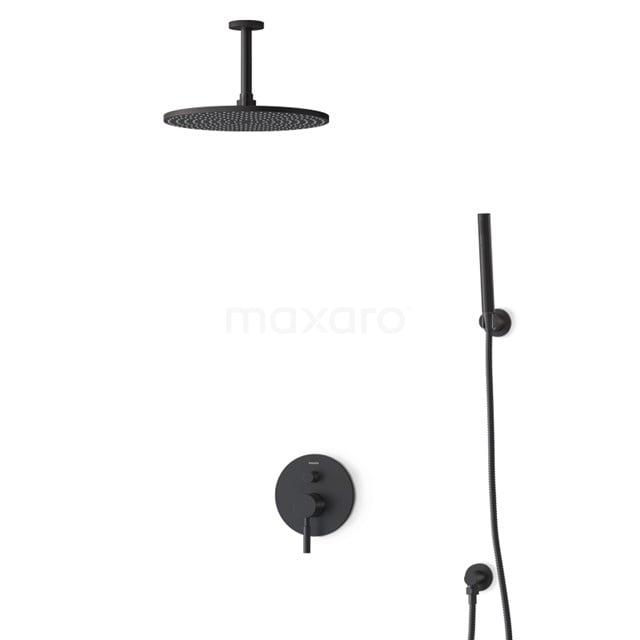 Inbouw Regendoucheset Radius Black, Eéngreeps Mengkraan, 30cm Hoofddouche, Zwart BIZ55-00150