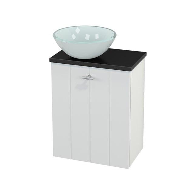 Toiletmeubel met Waskom Glas Modulo+ Pico Hoogglans Wit 41cm BMC000044
