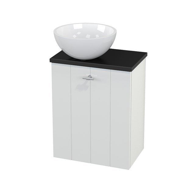 Toiletmeubel met Waskom Mineraalmarmer Glanzend Modulo+ Pico Hoogglans Wit 41cm BMC000046