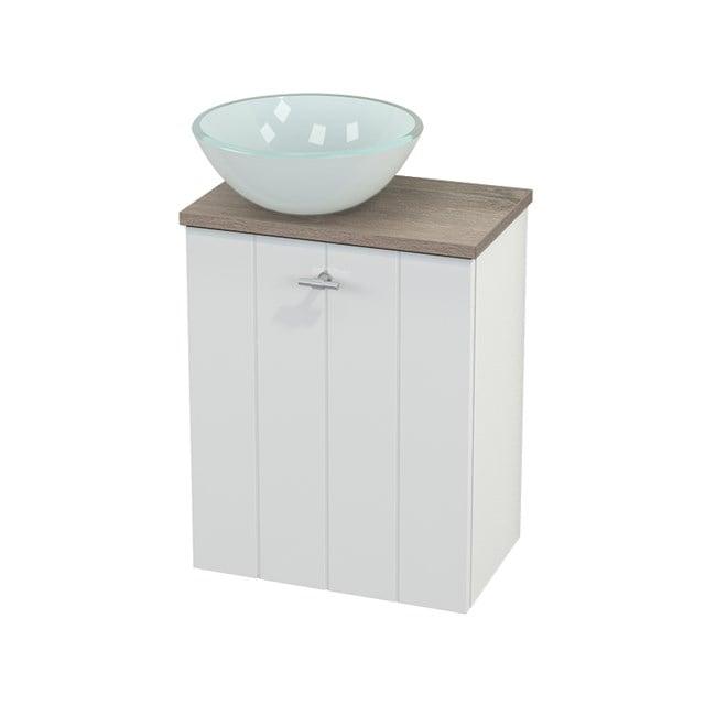 Toiletmeubel met Waskom Glas Modulo+ Pico Hoogglans Wit 41cm BMC000051