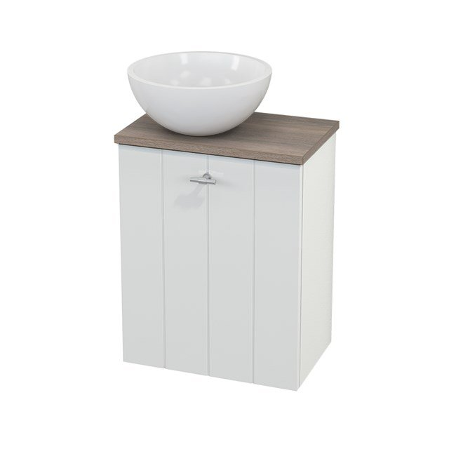 Toiletmeubel met Waskom Mineraalmarmer Glanzend Modulo+ Pico Hoogglans Wit 41cm BMC000053