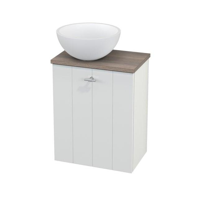 Toiletmeubel met Waskom Solid Surface Mat Modulo+ Pico Hoogglans Wit 41cm BMC000054