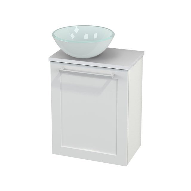 Toiletmeubel met Waskom Glas Modulo+ Pico Hoogglans Wit 41cm BMC000058
