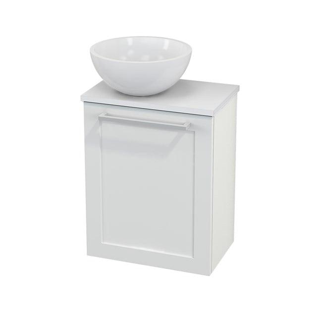 Toiletmeubel met Waskom Mineraalmarmer Glanzend Modulo+ Pico Hoogglans Wit 41cm BMC000060