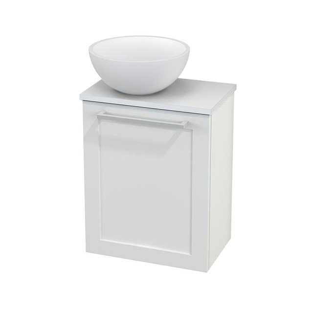Toiletmeubel met Waskom Solid Surface Mat Modulo+ Pico Hoogglans Wit 41cm BMC000061