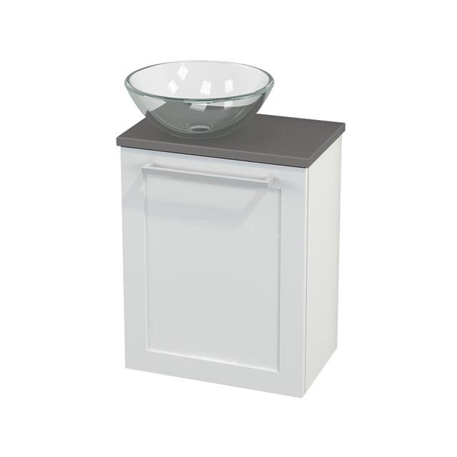 Toiletmeubel met Waskom Glas Modulo+ Pico Hoogglans Wit 41cm BMC000064