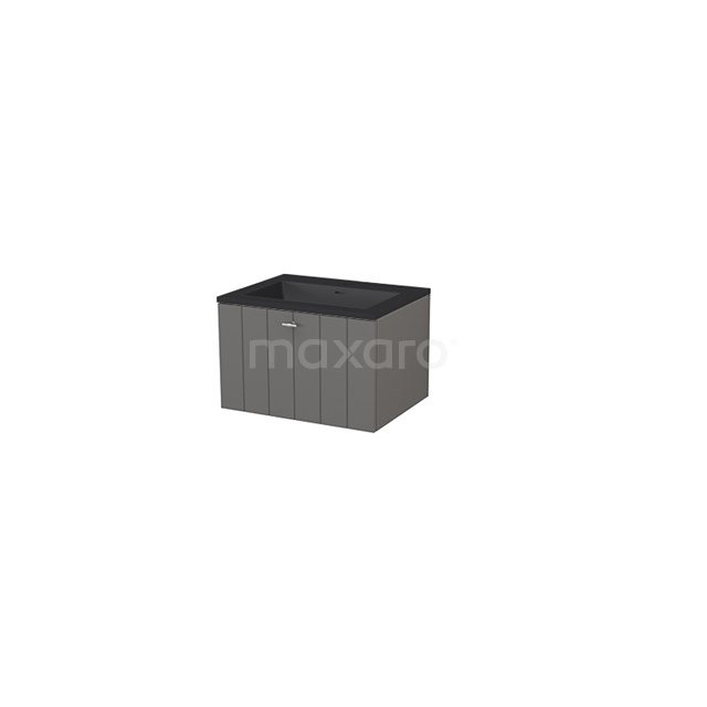 Badkamermeubel 60 cm Modulo+ Grijs 1 Lade Lamel Wastafel Quartz BMP005664