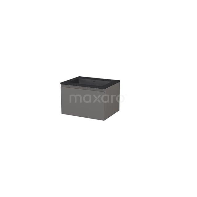 Badkamermeubel 60 cm Modulo+ Grijs 1 Lade Greeploos Wastafel Quartz BMP005669