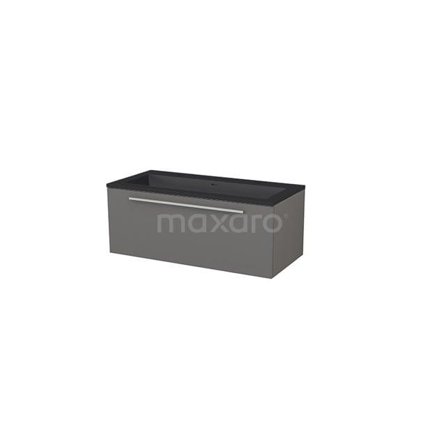 Badkamermeubel 100 cm Modulo+ Grijs 1 Lade Vlak Wastafel Quartz BMP005733