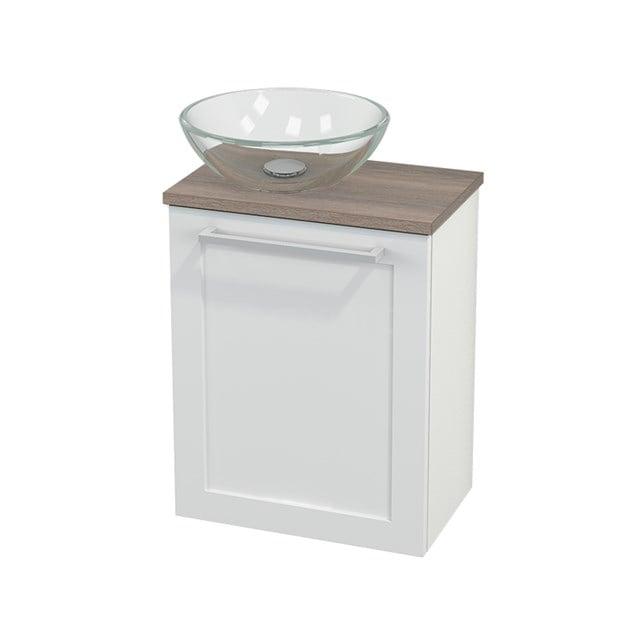 Toiletmeubel met Waskom Glas Modulo+ Pico Hoogglans Wit 41cm BMC000078