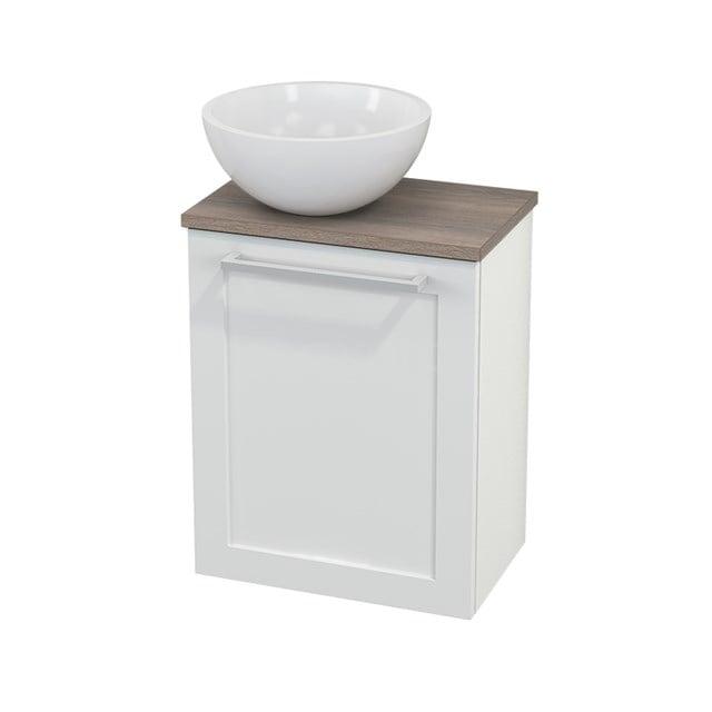 Toiletmeubel met Waskom Mineraalmarmer Glanzend Modulo+ Pico Hoogglans Wit 41cm BMC000081