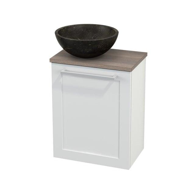 Toiletmeubel met Waskom Natuursteen Modulo+ Pico Hoogglans Wit 41cm BMC000083
