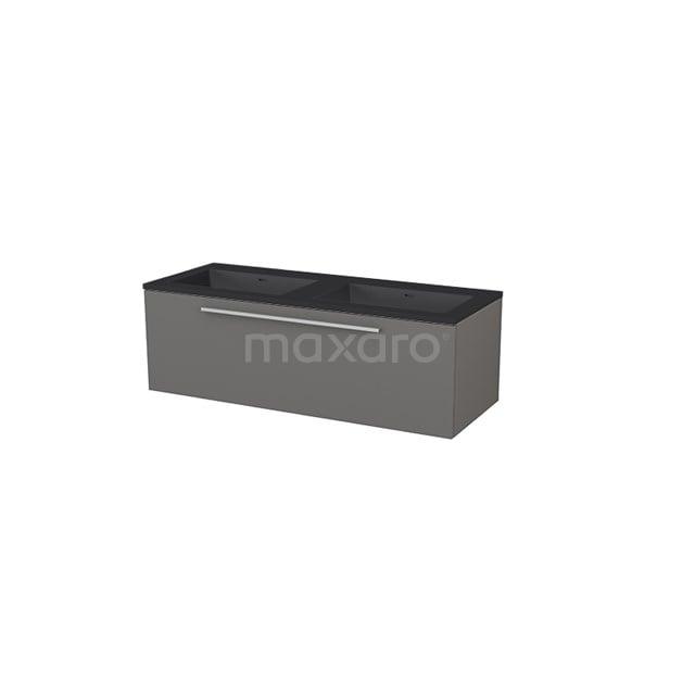 Badkamermeubel 120 cm Modulo+ Grijs 1 Lade Vlak Wastafel Quartz BMP005800