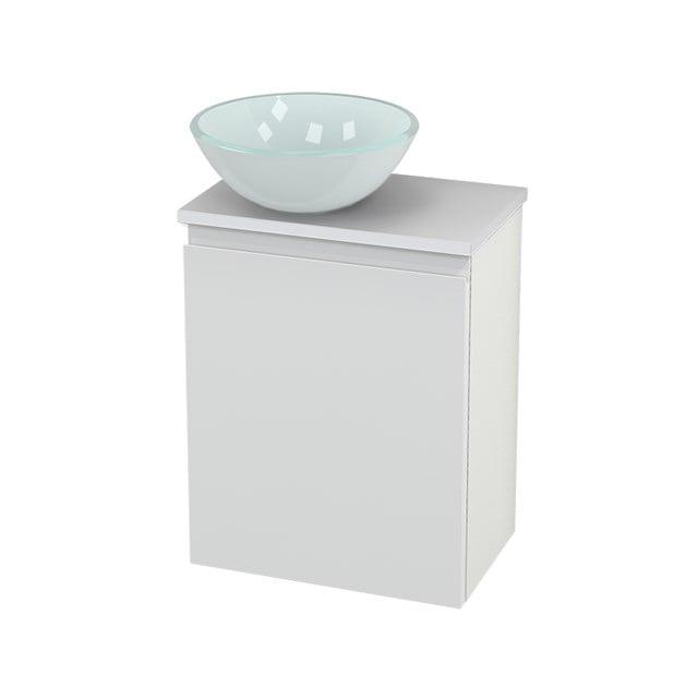 Toiletmeubel met Waskom Glas Modulo+ Pico Hoogglans Wit 41cm BMC000086