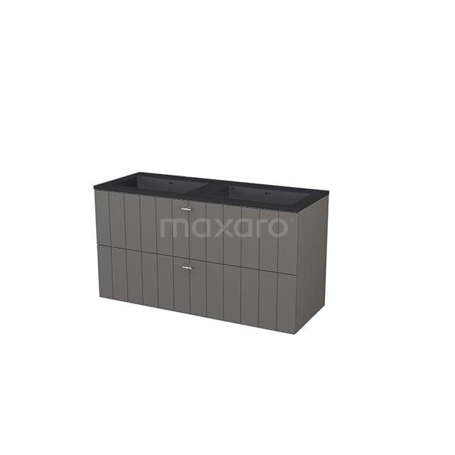 Badkamermeubel 120 cm Modulo+ Grijs 2 Lades Lamel Wastafel Quartz BMP005818