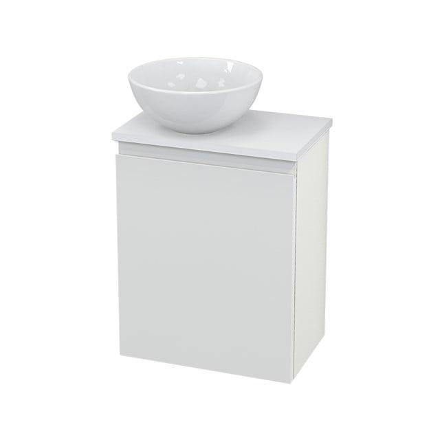 Toiletmeubel met Waskom Keramiek Modulo+ Pico Hoogglans Wit 41cm BMC000087