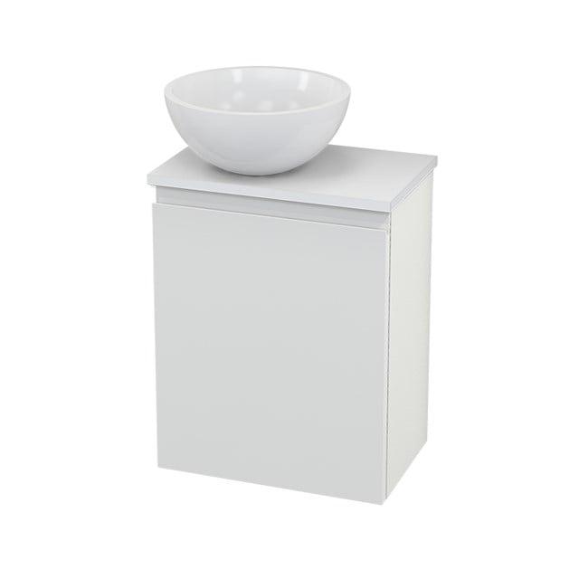 Toiletmeubel met Waskom Mineraalmarmer Glanzend Modulo+ Pico Hoogglans Wit 41cm BMC000088